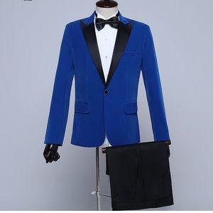 Other - Men's Blue Black Tuxedo + Pants